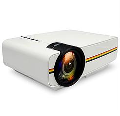 Портативный проектор FHD YJ-400 LED PRO, с функцией Air display, 1800 Лм