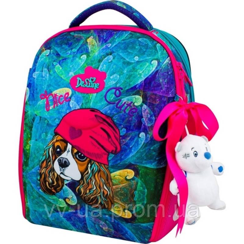 Рюкзак школьный каркасный Delune с наполнением, для девочек (7-148)