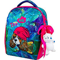 Школьный рюкзак каркасный Delune с наполнением, для девочек (7-148)