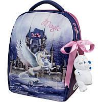 Рюкзак школьный каркасный Delune с наполнением, 7-150, для девочек