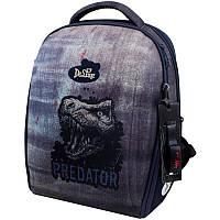 Школьный рюкзак каркасный Delune с наполнением, для мальчиков, серый (7-151)