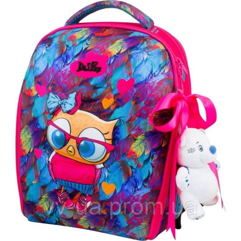 Школьный рюкзак каркасный Delune с наполнением, для девочек (7mini-015)