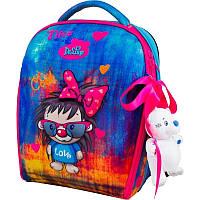 Рюкзак в школу каркасный Delune с наполнением, для девочек (7mini-016)