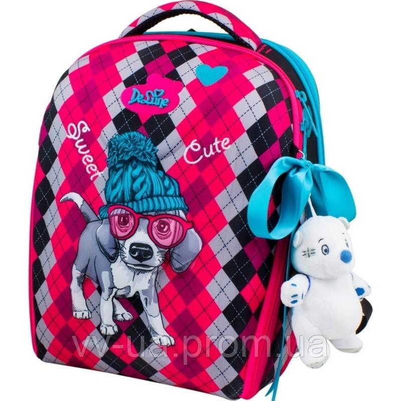 Рюкзак для школы каркасный Delune с наполнением, для девочек (7mini-018)