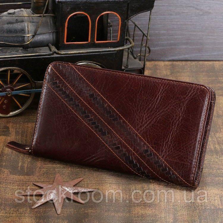 Барсетка из кожи мужская Vintage 14196, Коричневый