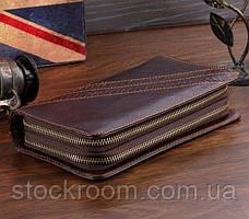 Мужской клатч Vintage 14202 Коричневый, Коричневый