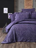 Комплект постільної білизни First Choice Neva Mor сатин 220-200 см фіолетовий, фото 1