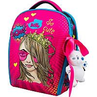 Рюкзак для школы каркасный Delune с наполнением, для девочек (7mini-022)