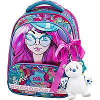 Рюкзак школьный каркасный Delune с наполнением, для девочек (9-122)