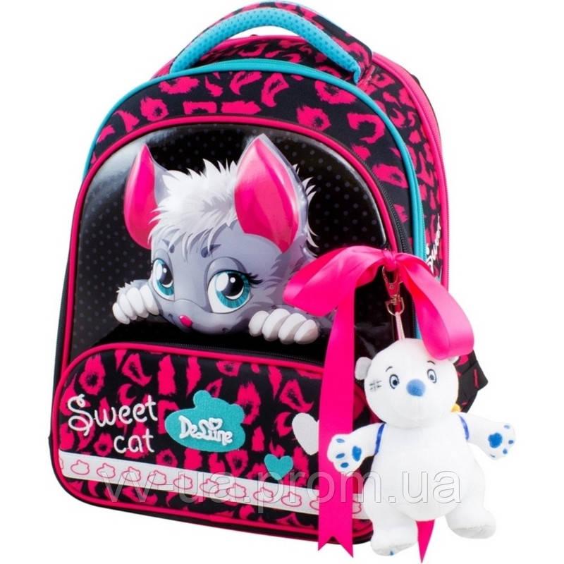 Рюкзак школьный каркасный Delune с наполнением, для девочек (9-123)