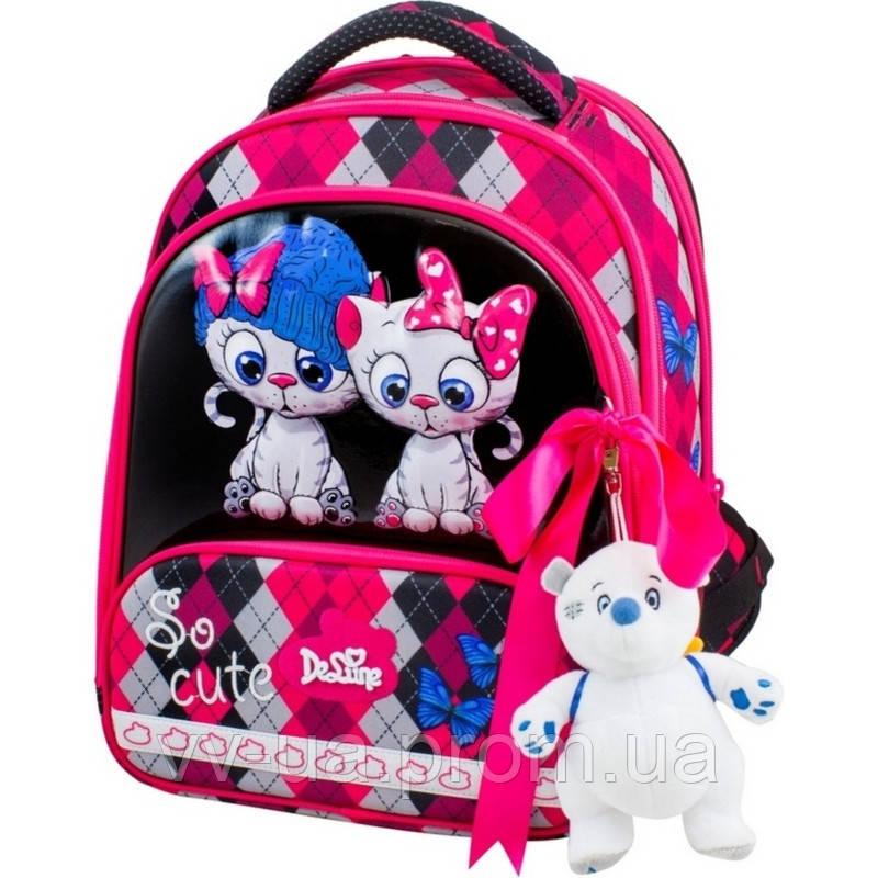 Рюкзак школьный каркасный Delune с наполнением, для девочек (Full-set 9-124)