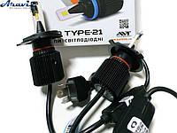 Автомобильные светодиодные LED лампы H4 Cyclone 5000K type 21 комплект для авто
