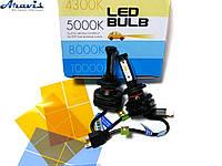 Автомобильные светодиодные LED лампы H7 Pulso 5000K YZ-H7 комплект для авто