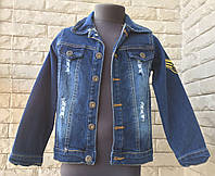 Джинсовая куртка на мальчика 3-7 лет