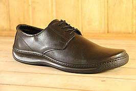 Мужские туфли из натуральной кожи black elite