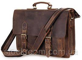 Портфель Vintage 14430 вінтажна шкіра Коричневий, Коричневий
