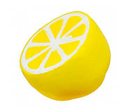 Игрушка сквиш Лимон   Мягкая игрушка-антистресс   Squishy Половинка лимона