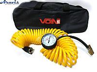 Шланг воздушный спиральный 7,5м. с ман./дефлятор жетый в сумке VOIN VP-104