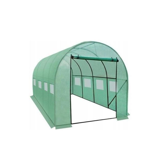 Садовая теплица тонель 10m2 с окнами 4x2,5м