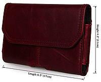 Чехол для смартфона Vintage 14299 кожаный Бордовый, Бордовый, фото 1