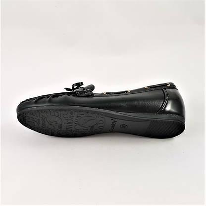 .Жіночі Мокасини Чорні Сліпони Шкіряні (розміри: 36) - 631, фото 2