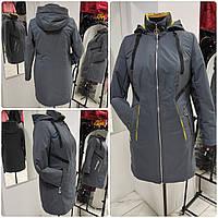 Женская демисезонная куртка-плащ больших размеров Solo SV-4, фото 1