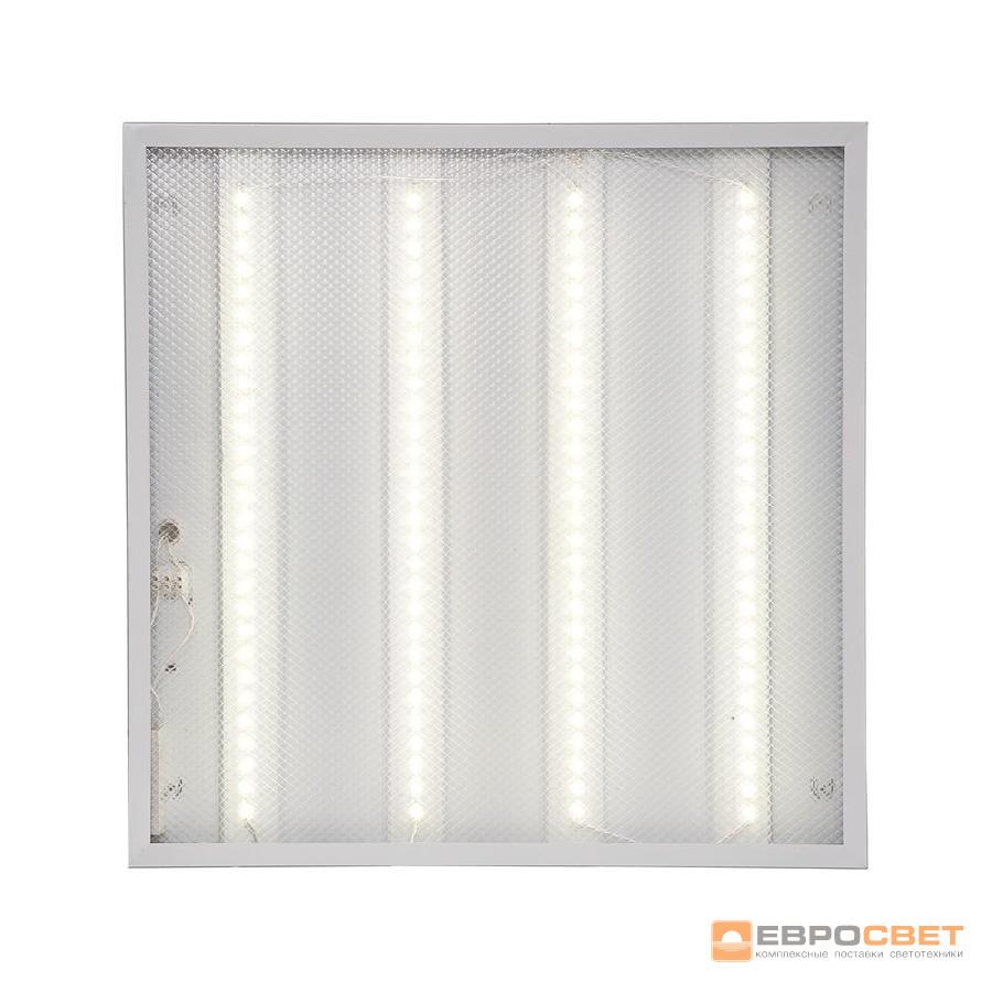 LED светильник унив. 595*595мм ЕВРОСВЕТ 40W 4000K Prismatic (LED-SH-595-20) 3000Lm