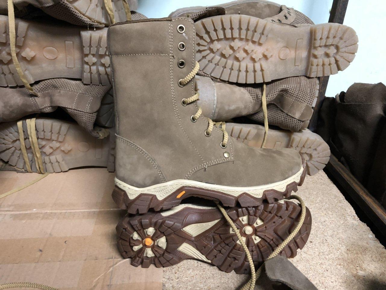 Ботинки женские берцы демисезонные облегченные из натуральной кожи