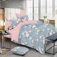 Комплект постельного белья Сатин Евро Цветок 1906-A-B