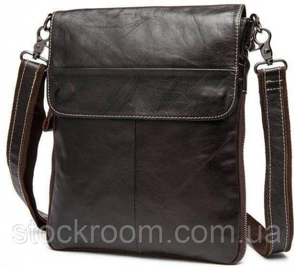 Мессенджер мужской Vintage 14631 кожаный Коричневый, Коричневый