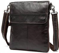 Мессенджер мужской Vintage 14631 кожаный Коричневый, Коричневый, фото 1