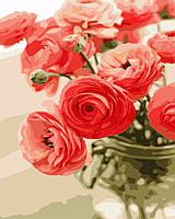 AS 0678 Цветы для любимой Картина по номерам на холсте Art Story 40x50см