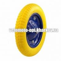 Колесо пенополиуретановое для тачки, модель 3.00-8/16 диаметр 360 мм