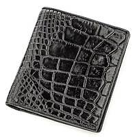 Портмоне CROCODILE LEATHER 18530 из натуральной кожи крокодила Черное, Черный, фото 1