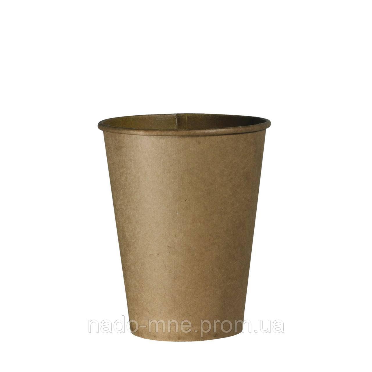 Стакан бумажный Крафт 250мл, 50шт/уп  (КВ79)