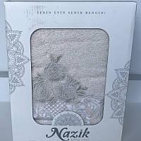 Бамбуковое полотенце 50х90 Siena с кружевом Royal Nazik