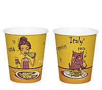 Стакан бумажный Italy 300мл. 50шт/уп КР 80
