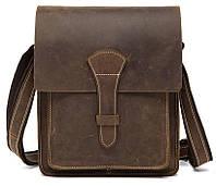 Cумка мужская вертикальная Vintage 14660 Коричневая, Коричневый, фото 1