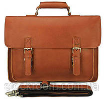 Шкіряний портфель матовий Vintage 14937 Рудий, Рудий