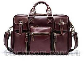 Дорожня сумка-портфель Vintage 14776 бордовий