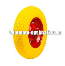 Колесо пенополиуретановое для тачки, модель 4.00-8/204 диаметр 390 мм