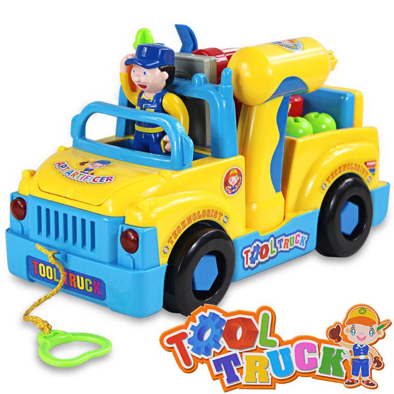 Детская машинка конструктор с инструментами Huile Toys 789