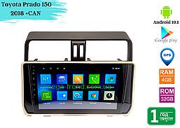 """Штатная магнитола Toyota Prado 150 2018 (10"""") +CAN Android 10.1 (4/32)"""