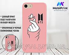 Силиконовый чехол для Apple Iphone 5_5s BTS рука сердце (БТС) (4002-3090)