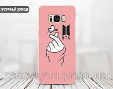 Силиконовый чехол для Apple Iphone 6_6s BTS рука сердце (БТС) (4004-3090), фото 2