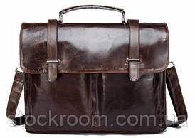 Портфель из гладкой кожи Vintage 14866 Коричневый, Коричневый