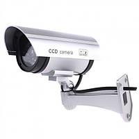 Муляж камеры видеонаблюдения обманка Kronos Dummy ССD серая. Муляж без датчика