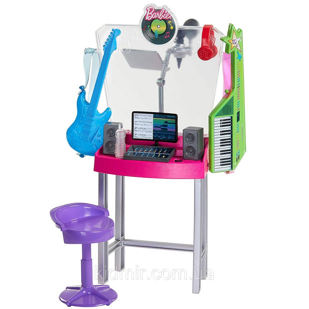 Мебель Барби Студия звукозаписи Карьера Barbie Musician Recording Studio GJL67