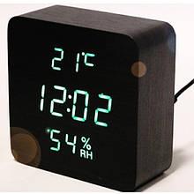 Настольные Часы VST 872-S электронные светодиодные с будильником и гигрометром