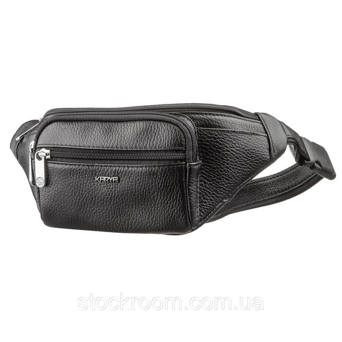 Поясная сумка флотар KARYA 17296 Черная, Черный